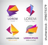 vector colorful origami icon... | Shutterstock .eps vector #298075379