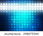abstract blue football or... | Shutterstock . vector #298075544