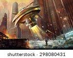 illustration  the terrible... | Shutterstock . vector #298080431