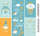 hello  little prince baby...   Shutterstock .eps vector #298084829