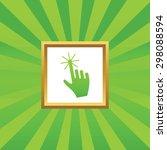 image of hand cursor in golden...