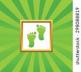 image of human footprint in...