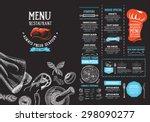 restaurant cafe menu  template... | Shutterstock .eps vector #298090277