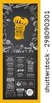 restaurant cafe menu  template... | Shutterstock .eps vector #298090301