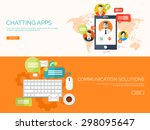 communication chatting.flat... | Shutterstock .eps vector #298095647