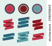 collection of vector seal ...   Shutterstock .eps vector #298098845