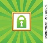 image of closed padlock in...
