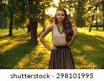 Young Beautiful Woman Posing I...