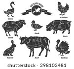 diagrams for butcher shop.... | Shutterstock .eps vector #298102481