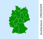 map of germany | Shutterstock .eps vector #298104209