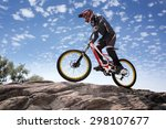 sportsman in sportswear on a... | Shutterstock . vector #298107677