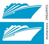 cruise ship icon. vector... | Shutterstock .eps vector #298109951
