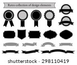 set of retro elements for... | Shutterstock .eps vector #298110419