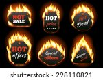 vector fire labels set. price... | Shutterstock .eps vector #298110821