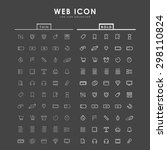 web bold and thin outline icons | Shutterstock .eps vector #298110824