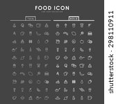 food bold and thin outline icons | Shutterstock .eps vector #298110911