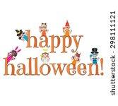 happy halloween type with trick ...   Shutterstock .eps vector #298111121