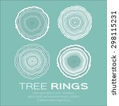 Tree Rings Background And 4 Sa...
