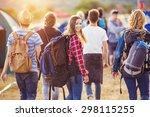 group of beautiful teens... | Shutterstock . vector #298115255
