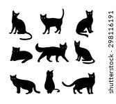 vector cats set. animal pet ... | Shutterstock .eps vector #298116191