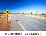 an iconic warning road sign for ... | Shutterstock . vector #298120814