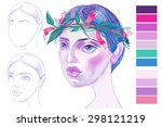 stages of work on the character | Shutterstock . vector #298121219