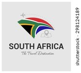 south africa the travel... | Shutterstock .eps vector #298124189