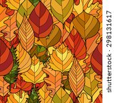 abstract doodle autumn leaves... | Shutterstock .eps vector #298131617