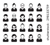 set of people icons. vector...   Shutterstock .eps vector #298133759