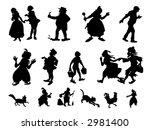 fairy tale heroes black  vector | Shutterstock . vector #2981400