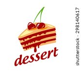 vector logo cake with two... | Shutterstock .eps vector #298140617