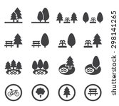 park icon set | Shutterstock vector #298141265