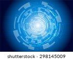 tech circle modern button and