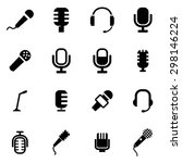 vector black microphone icon... | Shutterstock .eps vector #298146224