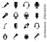vector black microphone icon... | Shutterstock .eps vector #298146224