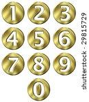 3d golden framed numbers   Shutterstock . vector #29815729
