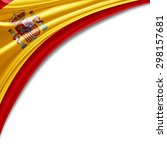 spain flag of silk with... | Shutterstock . vector #298157681