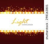 shining retro light banner.... | Shutterstock .eps vector #298163801