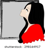 crying woman   Shutterstock .eps vector #298164917
