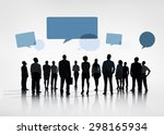 business collaboration... | Shutterstock . vector #298165934
