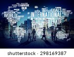 international world global... | Shutterstock . vector #298169387