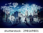 link cloud computing technology ... | Shutterstock . vector #298169801