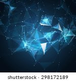 abstract mesh background with... | Shutterstock .eps vector #298172189