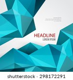vector abstract geometric... | Shutterstock .eps vector #298172291