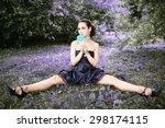 portrait of beautiful woman... | Shutterstock . vector #298174115