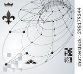 contemporary techno black and... | Shutterstock .eps vector #298179344
