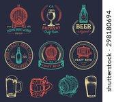 old brewery logos set. kraft... | Shutterstock .eps vector #298180694