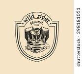 wild rider vector vintage... | Shutterstock .eps vector #298181051