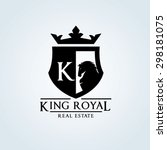 king royal crown horse logo k... | Shutterstock .eps vector #298181075