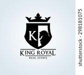 king royal real estate logo... | Shutterstock .eps vector #298181075